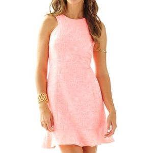 NWT Lilly Pulitzer Peachy Pink Dress Size 4 NEW